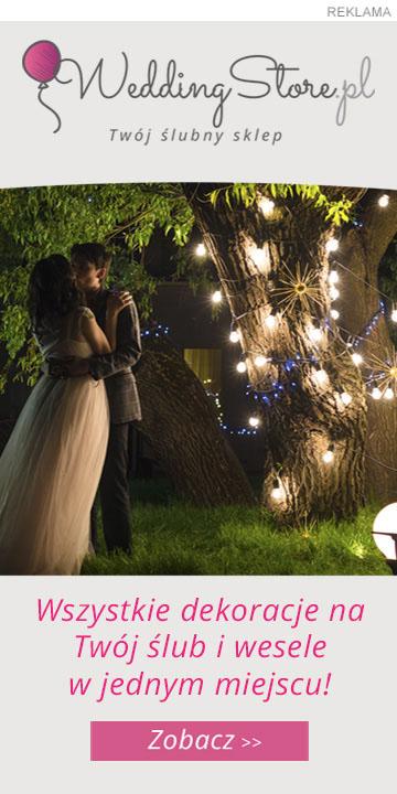 Sklep z dekoracjami ślubnymi
