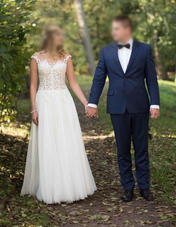 Suknia ślubna Gala Machiko Keira Koronkowa Z Odkrytymi Plecami