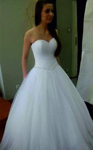 Bardzo dobryFantastyczny Piękna suknia ślubna z kryształami Swarovskiego | Wesele123.pl OI02
