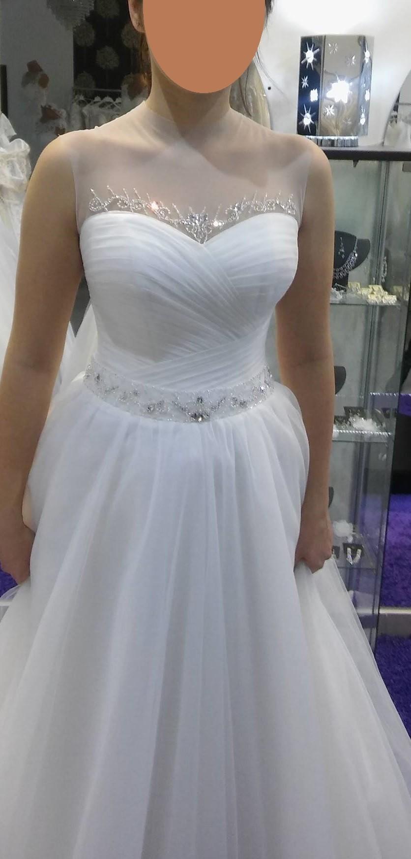 Cudowna Niepowtarzalna suknia ślubna - golf - kryształy Swarovskiego MH73